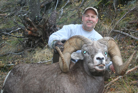 Photo of Dale Manning with sheep.
